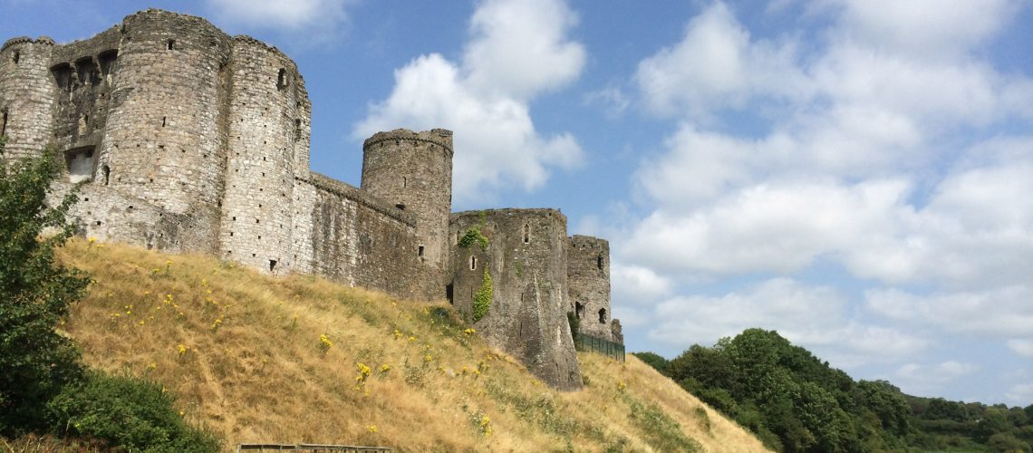 Kidwelly Castle is only a short walk away from the site